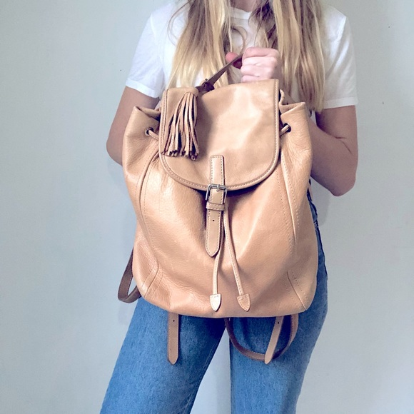 JCrew leather backpack